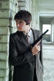 Agent z pistoletem Zdjęcia Stock