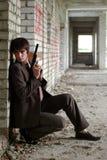 Agent z pistoletem Obrazy Royalty Free