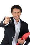 Agenta mienia klucze Zdjęcie Stock