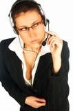 Agente atractivo 3 del centro de llamada Imagen de archivo libre de regalías
