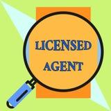 Agente autorizado texto de la escritura Vendedor autorizado y acreditado del significado del concepto de las pólizas de seguro al libre illustration