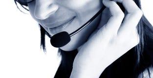 Agente cómodo del servicio de atención al cliente Imagen de archivo libre de regalías