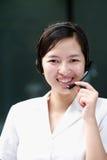 Agente cinese di servizio del sustomer Fotografie Stock Libere da Diritti