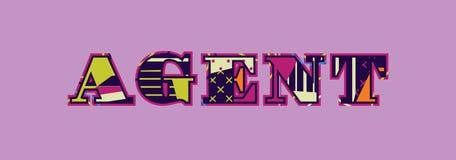 Agente Concept Word Art Illustration stock de ilustración