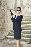 Agente da mulher do FBI. Fotos de Stock Royalty Free