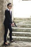 Agente da mulher do FBI. Fotos de Stock