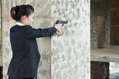 Agente da mulher do FBI. Foto de Stock
