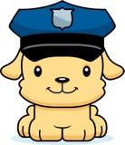 Agente da polícia de sorriso Puppy dos desenhos animados Imagem de Stock