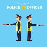 Agente da polícia em Kazakhstan-3 Fotografia de Stock Royalty Free