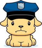 Agente da polícia irritado Puppy dos desenhos animados Fotografia de Stock