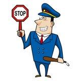 Agente da polícia masculino dos desenhos animados Fotos de Stock