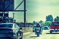 Agente da polícia na motocicleta em Los Angeles fotografia de stock royalty free