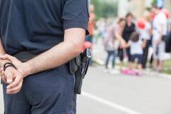 Agente da polícia no dever fotos de stock