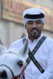 Agente da polícia no mercado de Souq Waqif em Doha, Catar Imagem de Stock Royalty Free