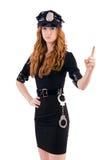 Agente da polícia do ruivo Imagem de Stock Royalty Free