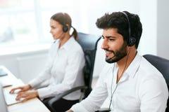 Agente de centro Consulting Customers Online del contacto imagen de archivo libre de regalías