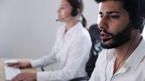 Agente de centro Consulting Customers Online del contacto metrajes