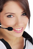 Agente de la atención al cliente Imagen de archivo