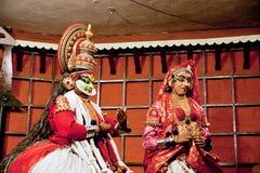 Agente de la danza del tradional de Kathakali Kochi (Cochin), la India Fotos de archivo libres de regalías