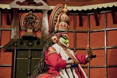 Agente de la danza del tradional de Kathakali Kochi (Cochin), la India imágenes de archivo libres de regalías