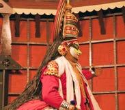 Agente de la danza del tradional de Kathakali Kochi (Cochin), la India fotografía de archivo