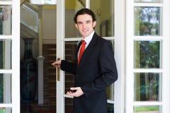 Agente de la propiedad inmobiliaria Foto de archivo