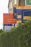 Agente de la propiedad inmobiliaria Signs imagen de archivo