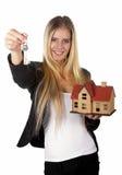 Agente de la propiedad inmobiliaria Woman Concept Foto de archivo