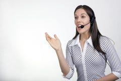Agente de la señora centro de atención telefónica fotografía de archivo
