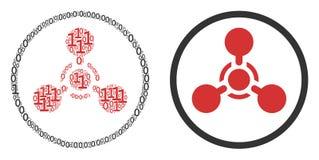 Agente de nervo Chemical Warfare Collage de WMD de elementos binários ilustração do vetor