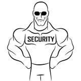 Agente de segurança Cartoon Fotos de Stock