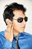 Agente de segurança Hearing Wearing Sunglasses fotografia de stock