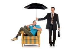 Agente de seguro do homem de negócios