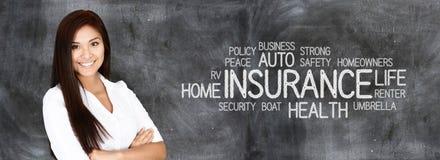 Agente de seguros fêmea Imagens de Stock