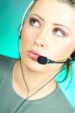 Agente del centro de atención telefónica Imagenes de archivo