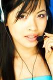 Agente del centro de atención telefónica Fotos de archivo