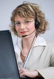 Agente del servicio de atención al cliente Foto de archivo libre de regalías