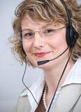 Agente del servicio de atención al cliente Imagen de archivo libre de regalías