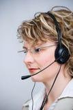 Agente del servicio de atención al cliente Fotos de archivo libres de regalías