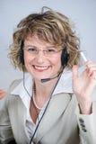 Agente del servicio de atención al cliente Fotos de archivo