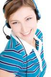 Agente del servicio de atención al cliente Imágenes de archivo libres de regalías