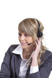 Agente della call center Fotografia Stock