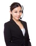 Agente della call center Fotografie Stock