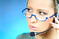 Agente della call center Fotografie Stock