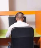 Agente della call center sul lavoro Fotografia Stock Libera da Diritti