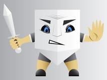 Agente della protezione con la spada illustrazione di stock