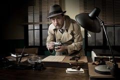 Agente della spia preso rubando le informazioni Fotografie Stock