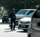 Agente delle forze dell'ordine locale In Ipoh della giunta comunale fotografie stock
