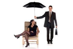 Agente di assicurazione dell'uomo d'affari Immagini Stock Libere da Diritti