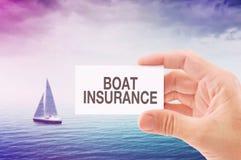 Agente di assicurazione della barca Fotografia Stock Libera da Diritti